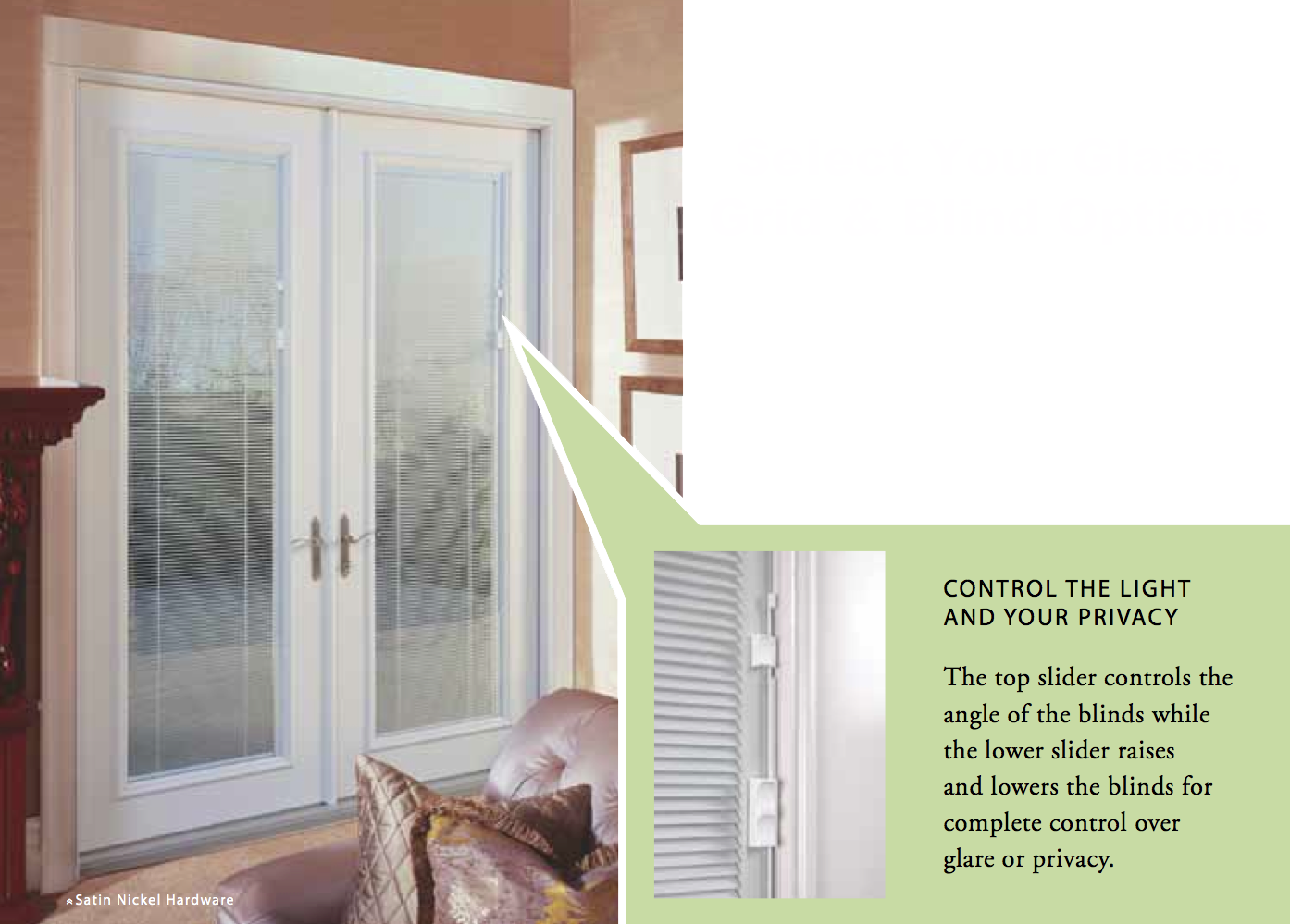 French Patio Doors With Blinds Between Glass Examples